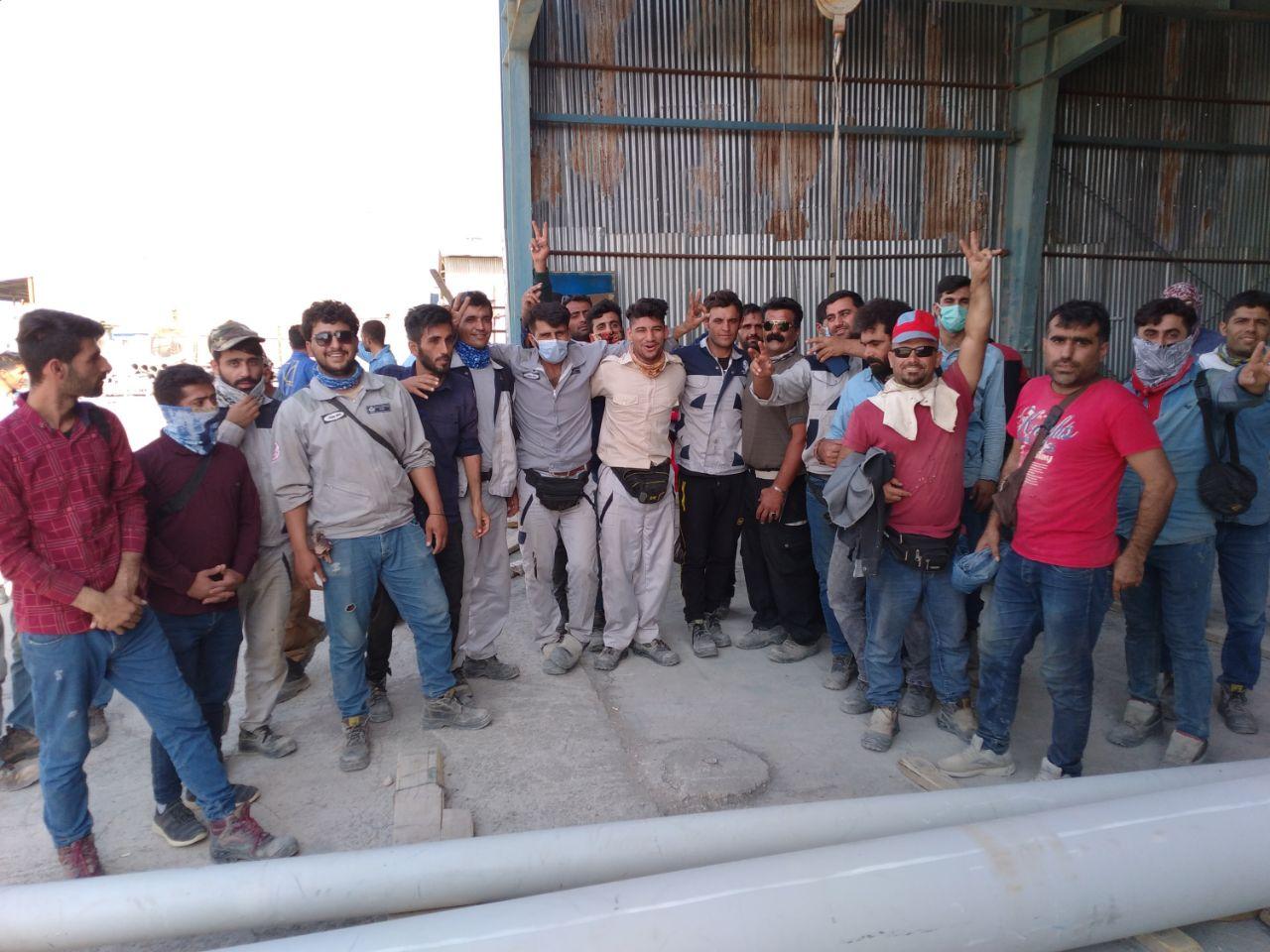 کارگران پالایشگاهها به خانه بازگشتند