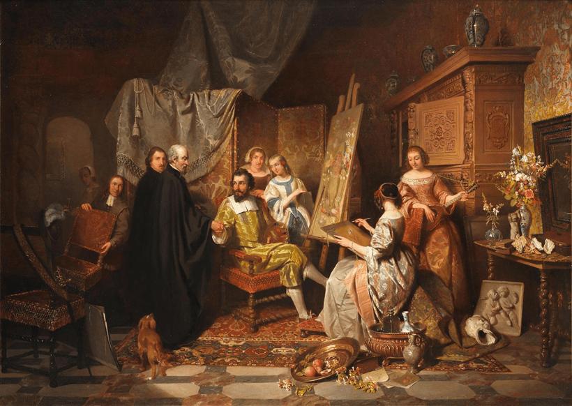 استودیوی هنرمند، دیوید امیل جوزف د نوتر، ۱۸۴۵