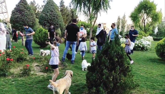 ورود سگ به تمامی پارکهای تهران ممنوع است